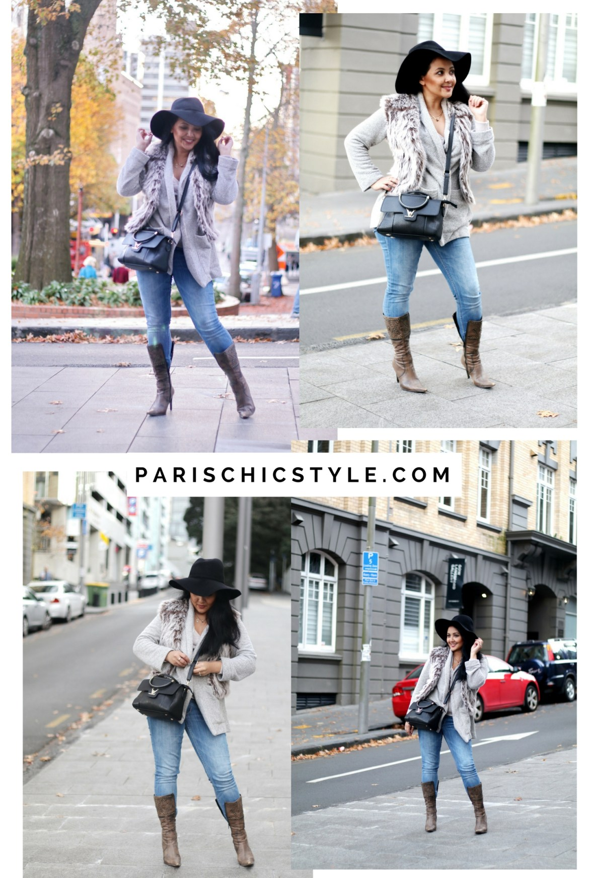 Paris Chic Style How To Wear A Faux Fur Vest Parisian Chic Style Everyday Fashion Streetstyle Outfit Of The Day Lookbook 2