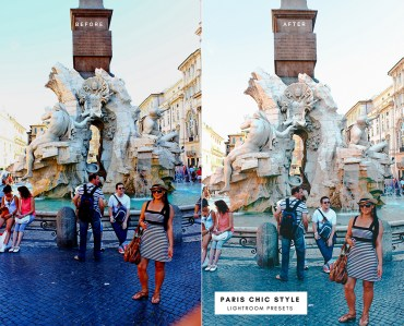 Before & After Rome Italy Lightroom Presets 1.1 Desktop Mobile Instagram Blog Fashion Lifestyle Travel Paris Chic Style 2