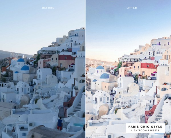 Before & After Santorini Greece Lightroom Presets 1.1 Desktop Mobile Instagram Blog Fashion Lifestyle Travel Paris Chic Style 4