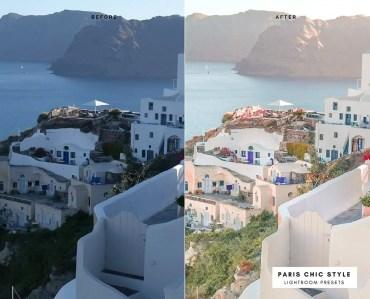 Before & After Santorini Greece Lightroom Presets 1.1 Desktop Mobile Instagram Blog Fashion Lifestyle Travel Paris Chic Style 6