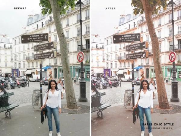 Paris France Lightroom Presets 1.1 Rose Gold Paris Chic Style Blog Travel Lifestyle Instagram Before & After 3