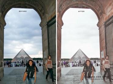 Paris France Lightroom Presets 1.1 Rose Gold Paris Chic Style Blog Travel Lifestyle Instagram Before & After 5