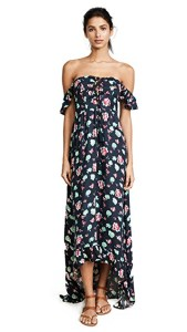 What To Wear In Morocco Marrakech Black White Pink Floral Maxi Dress Paris Chic Style 5