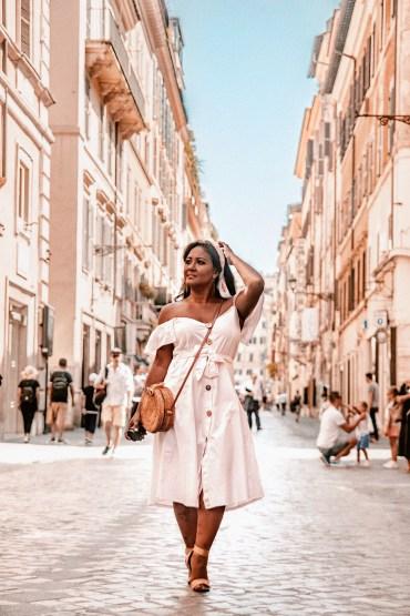 How-To-Wear-Off-Shoulder-Dress-Light-Blush-Pink-Button-Down-Dress-Rattan-Straw-Basket-Bag-Flat-Sandal-Headwrap-Paris-Chic-Style-Fashion-Lookbook-Street-Style-2