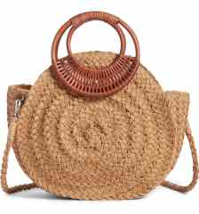 How To Wear Off Shoulder Dress With Woven Rattan Box Straw Bags Paris Chic Style 6