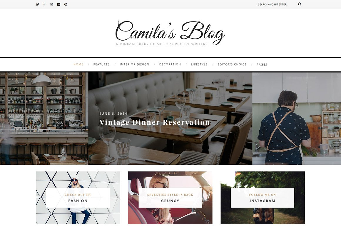 How to start a blog lifestyle finance travel fashion food blogger fitness health beauty beginners easy tutorial Best Theme For Blogs Creative Marketplace Themes Paris Chic Style 4