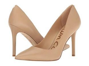What Color Shoes To Wear With A Red Dress Nude Beige Blush Shoes Sam Edelman Hazel Paris Chic Style 7