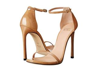 What Color Shoes To Wear With A Red Dress Nude Beige Blush Shoes Stuart Weitzman Nudist Paris Chic Style 1