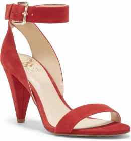 What Color Shoes To Wear With A Red Dress Red Shoes Caitriona Sandal VINCE CAMUTO Paris Chic Style 1