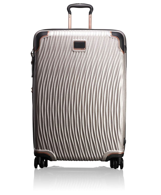 Paris Chic Style Best Travel Luggage Checked Lightweight Suitcases Four Spinner Wheels Tumi
