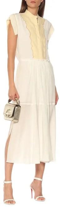 French Clothing Brand French Dress Silk Crepe Midi Parisian Style Paris Chic Style Chloe