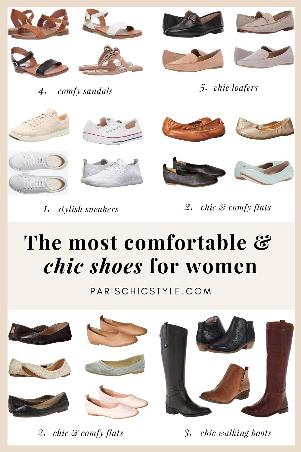 Most Comfortable Shoes For Women Walking Best Travel Shoes For Travel Work Street Style Paris Chic Style