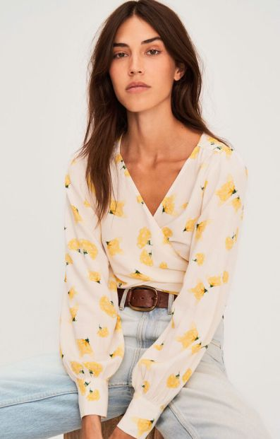 French Clothing Brand Ba&sh Parisian Style Floral Top Paris Chic Style