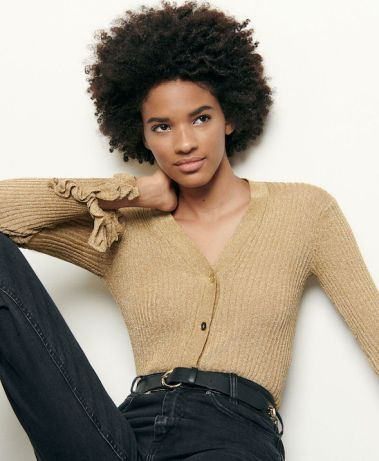 French Clothing Fashion Brand Parisian Style Cardigan Sweater Paris Chic Style