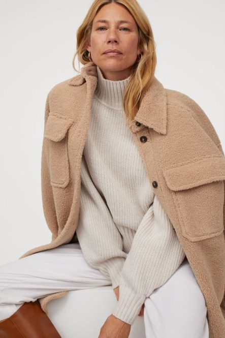 Best Winter Coats For Women Warm Jackets Long Faux Shearling H&M Parisian Style Paris Chic Style