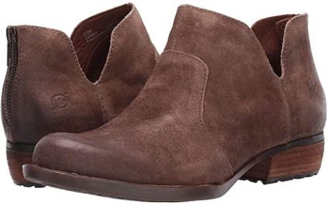 Most Comfortable Bootie For Women For Walking, Travel, Work, Street Style Born Parisian Style Brown Suede Boots Paris Chic Style 6