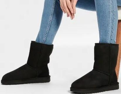 Stylish Warm Winter Boots For Women Waterproof Comfortable UGG Classic Short II Black Parisian Style Paris Chic Style