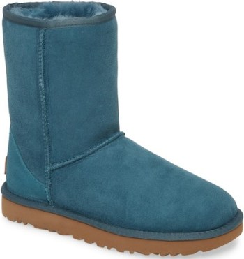 Stylish Warm Winter Boots For Women Waterproof Comfortable UGG Classic Short II Green Parisian Style Paris Chic Style