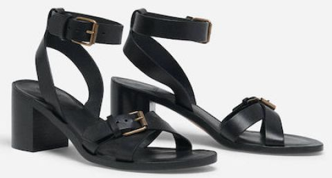 Ba&sh Comfortable Stylish French Sandals For Work, Walking Everyday Parisian Streetstyle Shoes Paris Chic Style