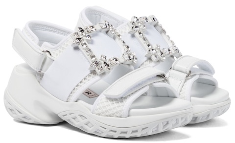 Roger Vivier French Sandals For Summer Walking Travel Work Everyday Wear Parisian Street Style French Shoes Paris Chic Style