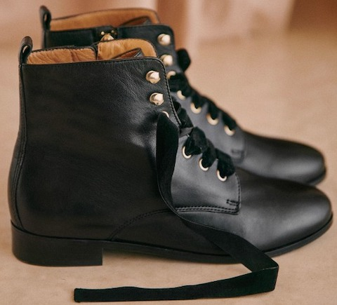 Sezane Parisian Fashion French Boots For Walking Work Travel Sightseeing Parisian Streetstyle Shoes Paris Chic Style