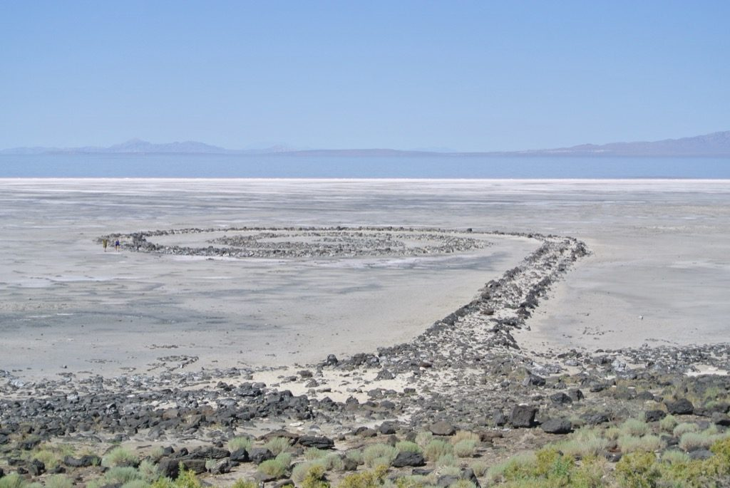 robert smithson s spiral jetty on great salt lake forty five