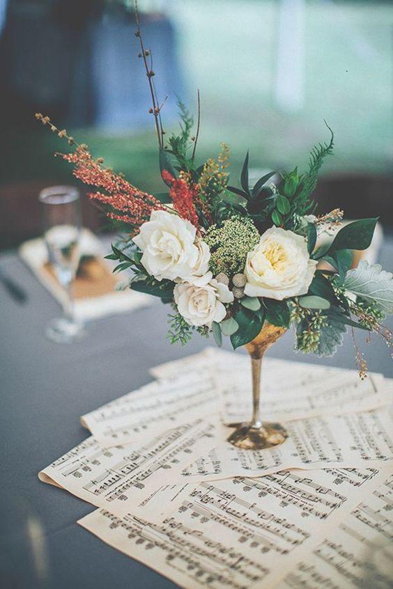Thème-mariage-musique-partitions-fleurs