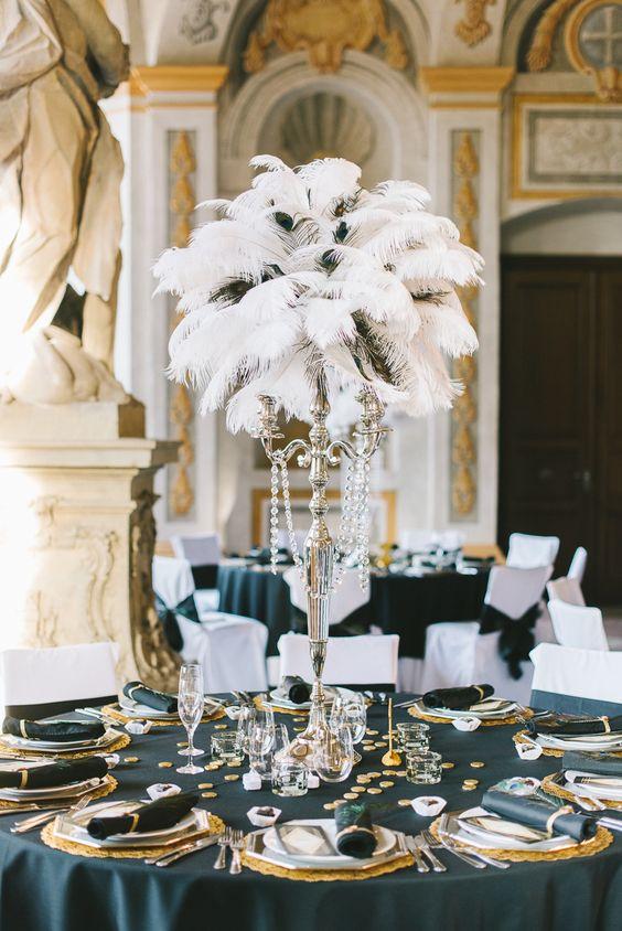 Thème-mariage-années-folles-table-plumes