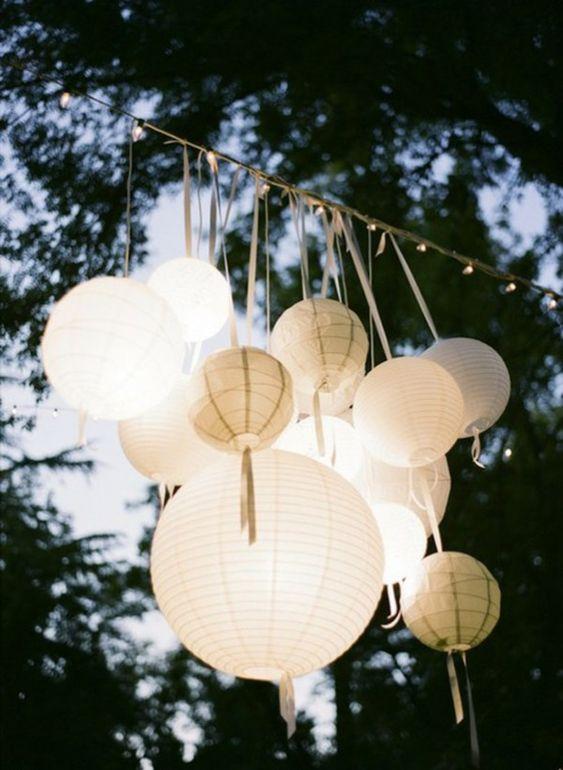 Thème-mariage-tout-blanc-lampes-chinoises