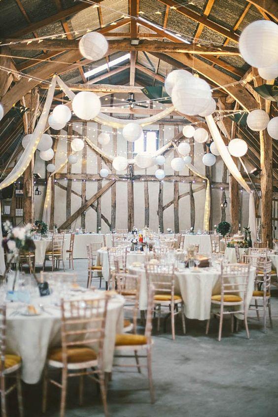 Thème-mariage-tout-blanc-tables-grange