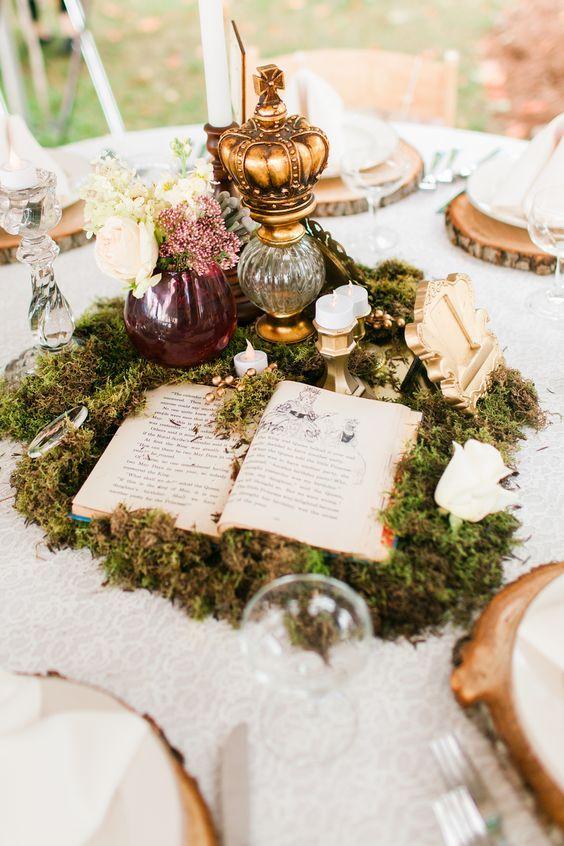 Thème-mariage-littéraire-centre-de-table-livre-ouvert