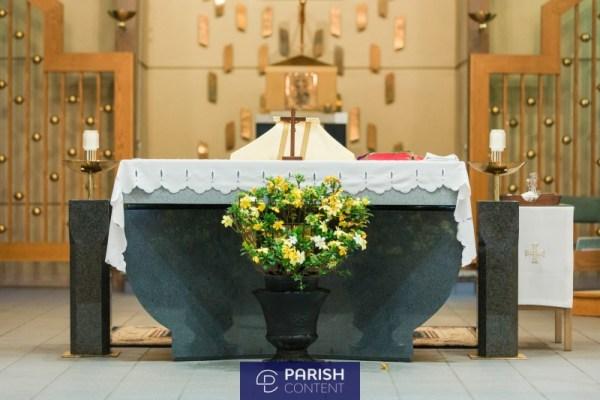 Altar Before Mass