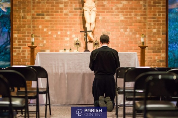 Seminarian In Adoration
