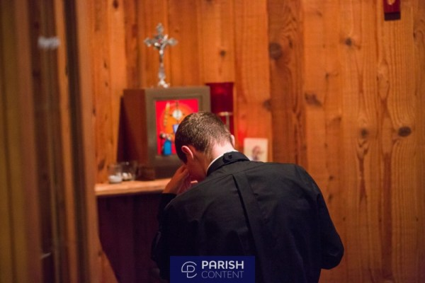 Seminarian In Prayer