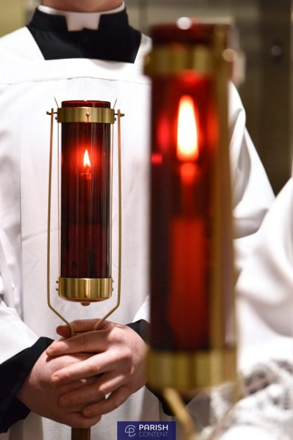 Altar Servers During Mass