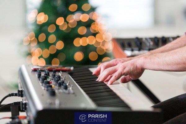 Christmas Playing Keyboard