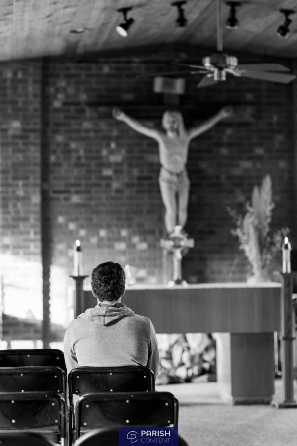 Praying In Chapel