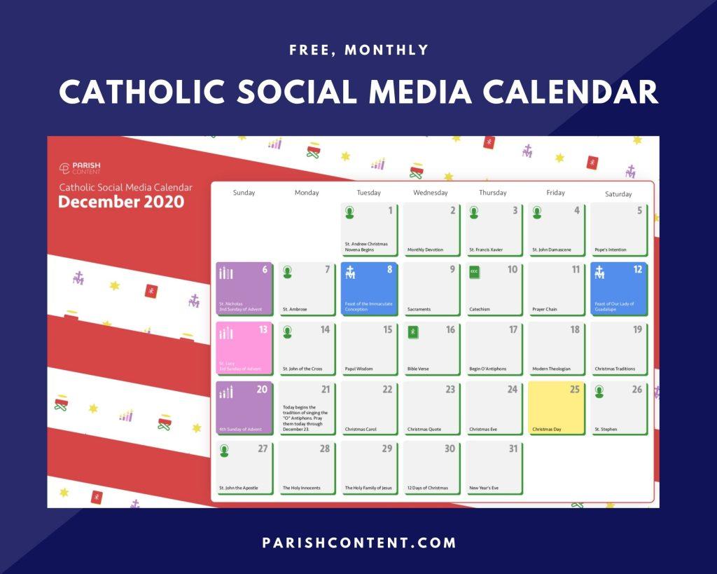December Social Media Calendar