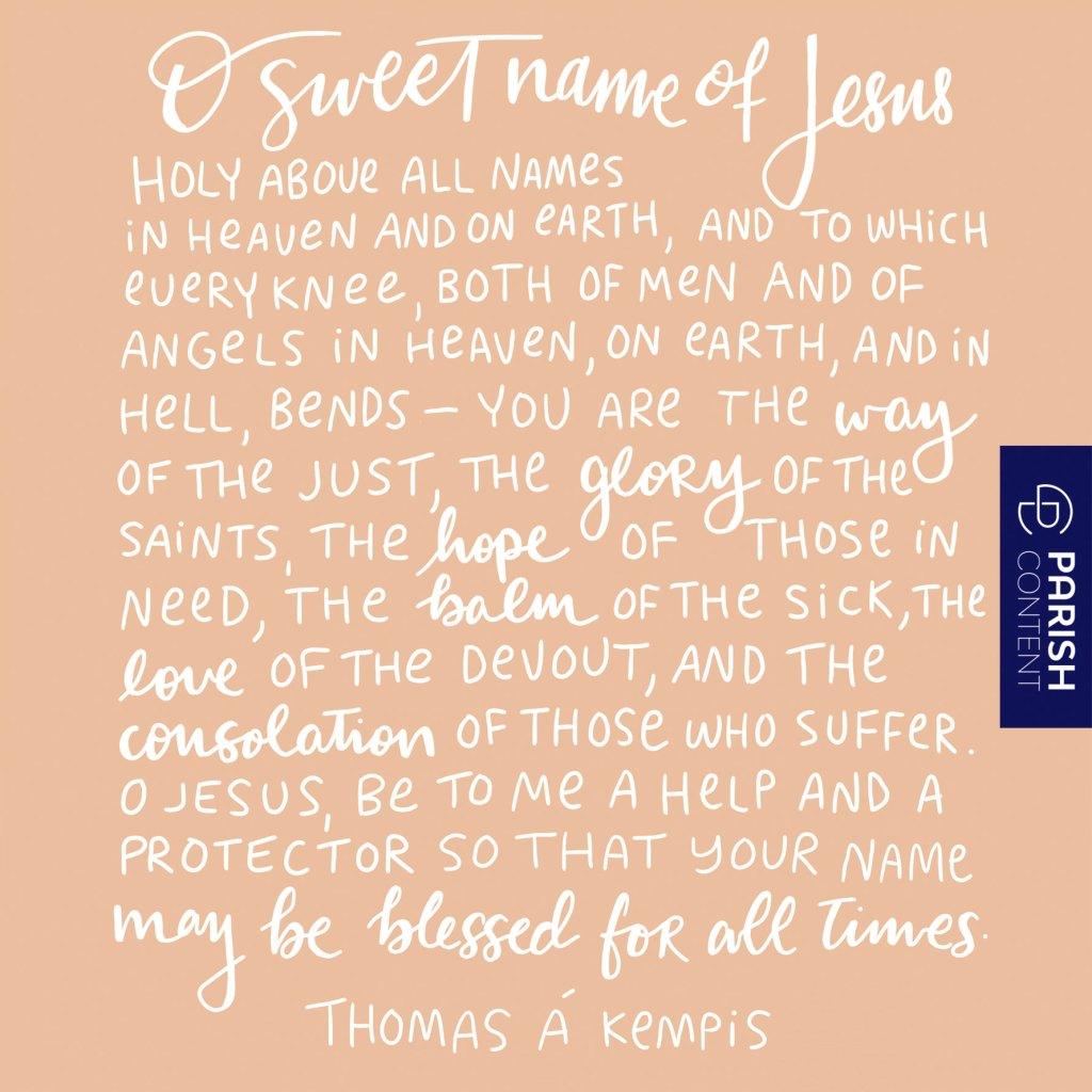 O Sweet Name Of Jesus