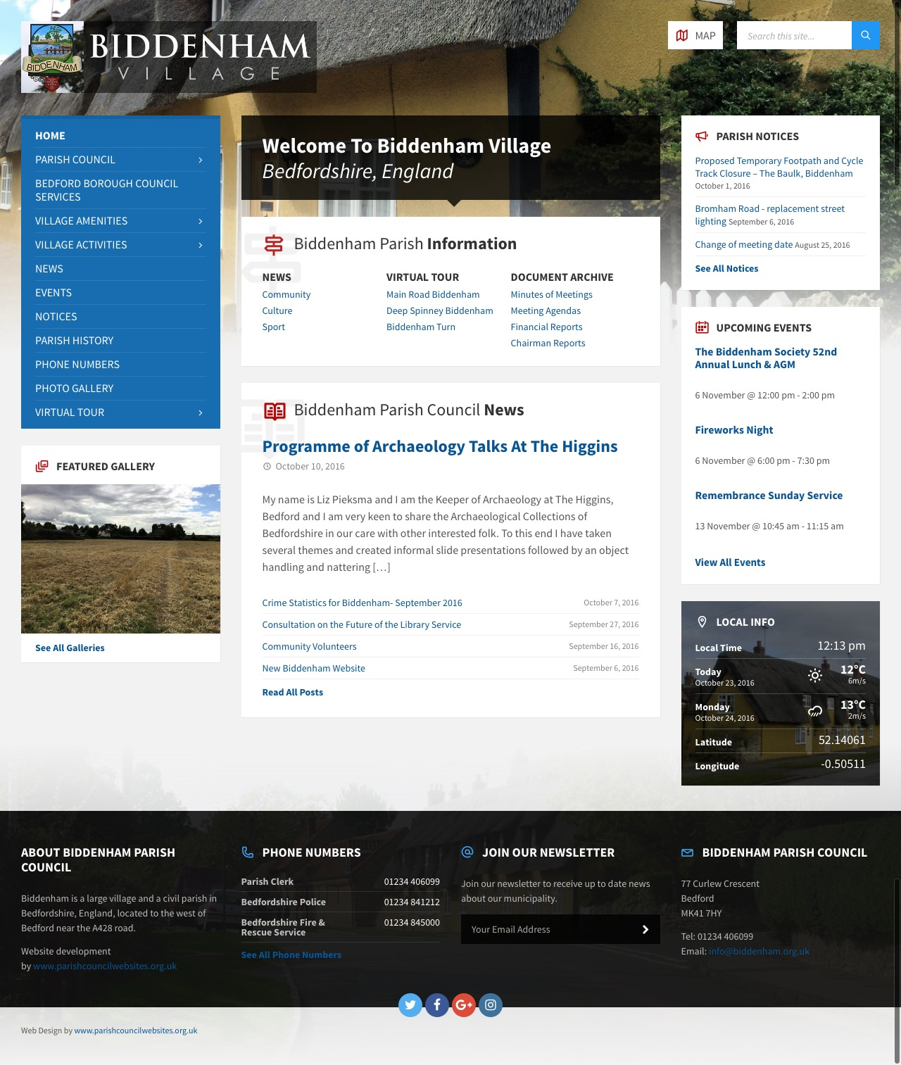 The new website is a valuable village resource