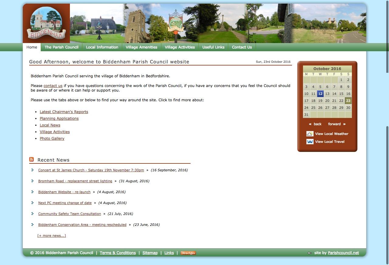 The old website no longer met requirements