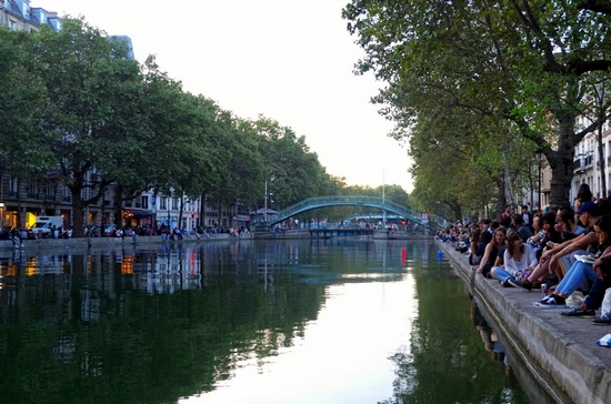 Paris Lights Up Canal Saint-Martin