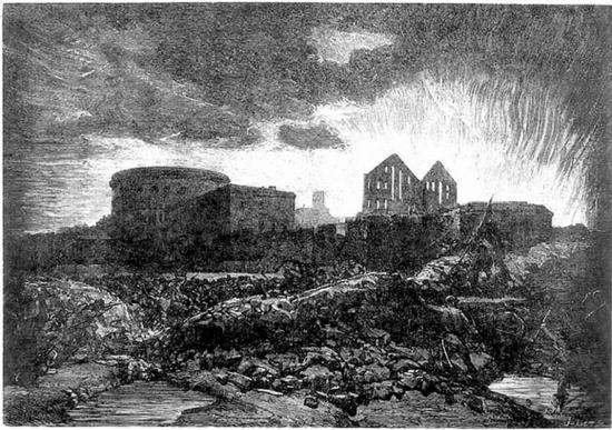 François-Nicolas CHIFFART Incendies des docks de la Villette Le Monde Illustré 17 juin 1871 - Copie