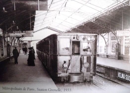 Métropolitain de Paris, station Grenelle 1933