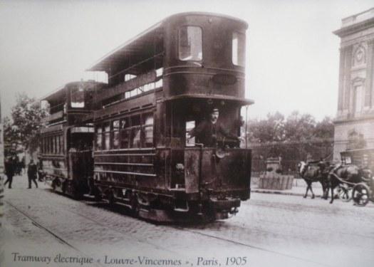Tramway électrique Louvre Vincennes, Paris 1905