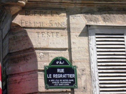 Rue de la Femme sans tête (75004)