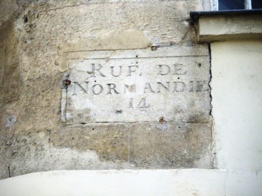 Plaque Rue de Normandie