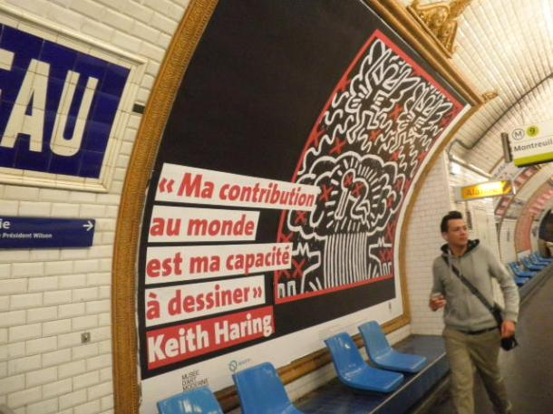 Keith Haring revient à la station Alma Marceau ligne 9
