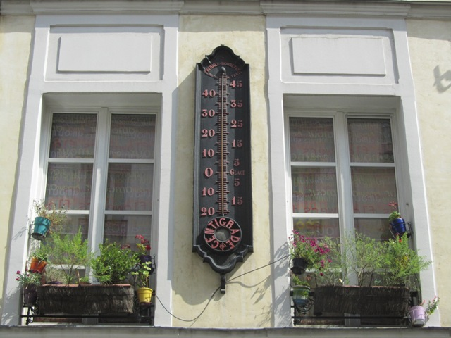 Le Thermomètre géant de la rue de Poitou