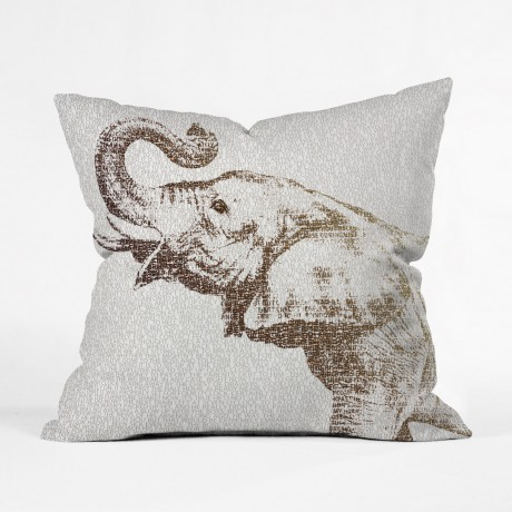 Word to the Wise Elephant Throw Pillow